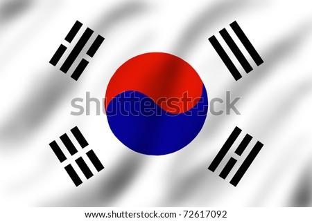 Flag of South Korea, illustration - stock photo
