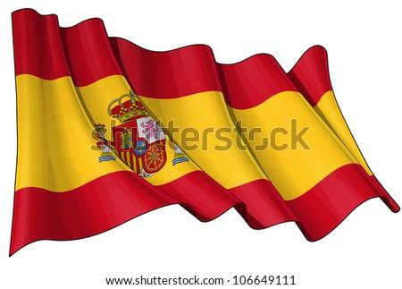 Flag of Spain - stock photo