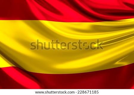 Flag of Spain. - stock photo