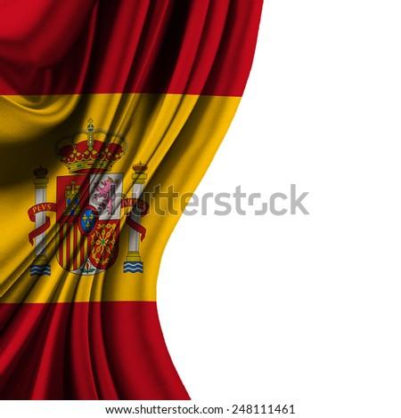 Flag of Spain half curtain - stock photo