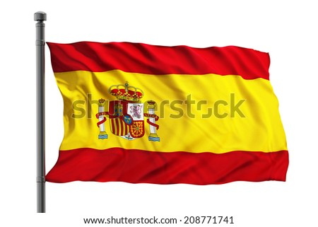 Flag of spain isolated on white background