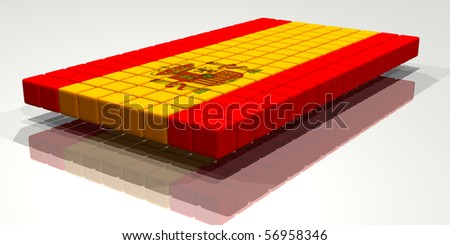 Flag of Spain, Made from cubes.