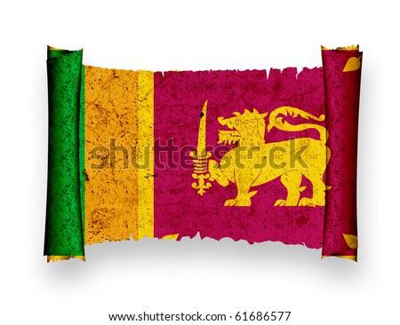 Flag of Sri Lanka - stock photo