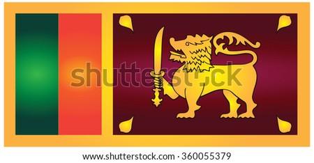 Flag of Sri Lanka (Democratic Socialist Republic of Sri Lanka) - stock photo