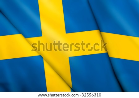 Flag of Sweden - stock photo