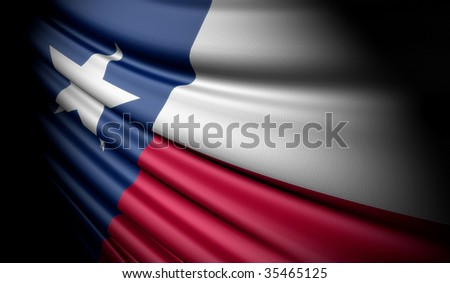 flag of Texas - stock photo