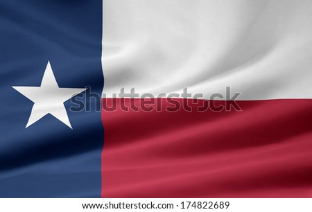 Flag of Texas - USA - stock photo