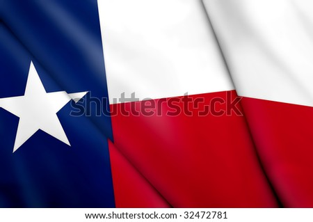Flag of Texas (USA) - stock photo