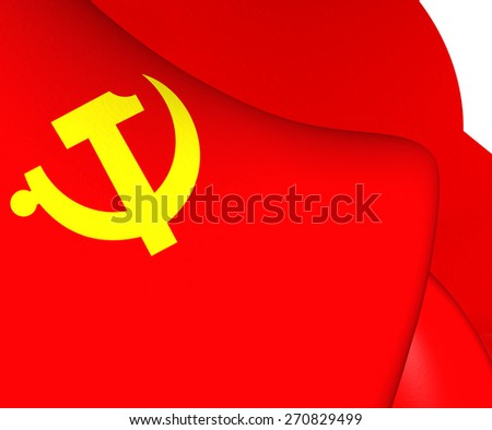 Flag of the Chinese Communist Party. Close Up. - stock photo
