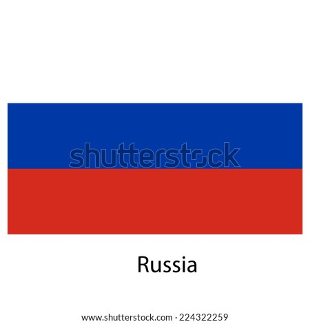 Flag  of the country  russia.  illustration.  Exact colors.  - stock photo