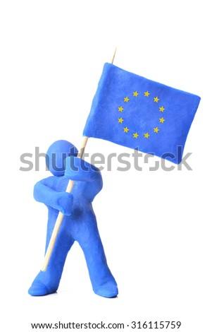 Flag of the European Union - stock photo