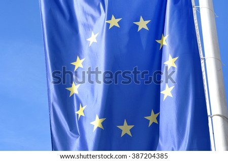Flag of the European Union - stock photo