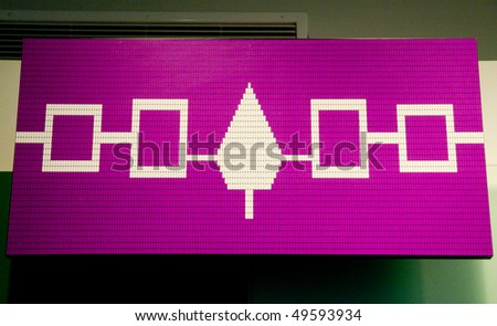 Flag of the Iroquois Confederacy - stock photo
