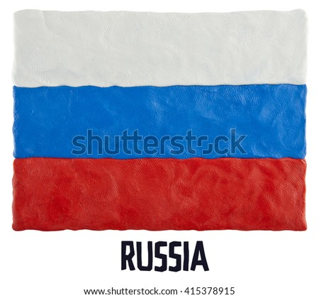 Flag of the Russia - stock photo