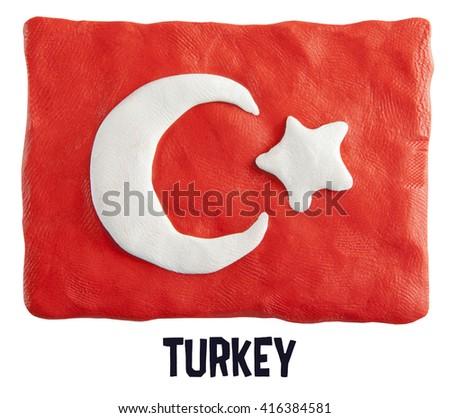 Flag of the Turkey  - stock photo