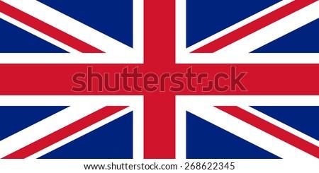 Flag of the United Kingdom - stock photo