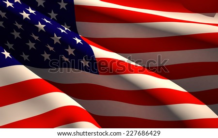 Flag of the United States - stock photo