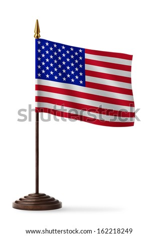 flag of the United States of America - table flag - stock photo