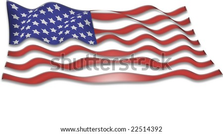 Flag of the United States - space for your text - stock photo