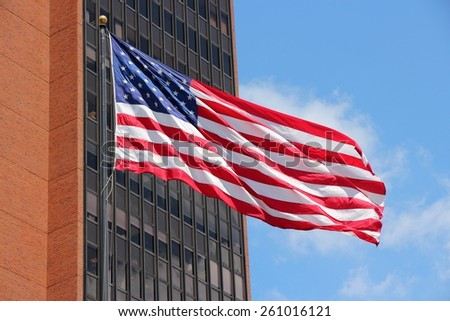 Flag of the United States, the star spangled banner. - stock photo