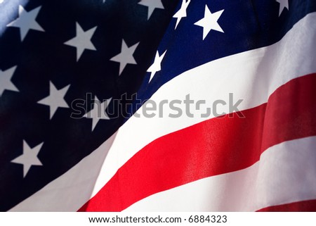 Flag of the Unites States of America - stock photo