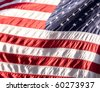 Flag of the USA (United States of America) on tha Wall Street - stock photo