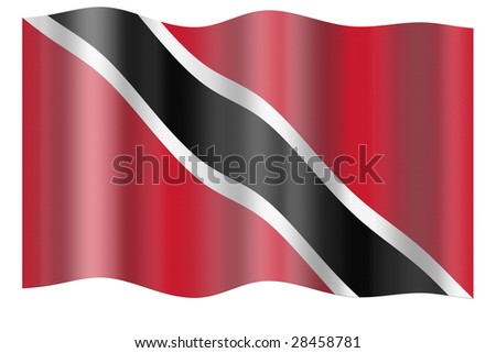 Flag of Trinidad and Tobago. Illustration over white background