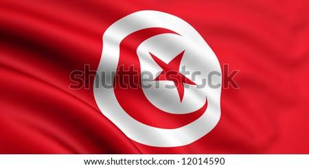 Flag Of Tunisia - stock photo