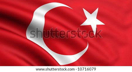 Flag Of Turkey - stock photo