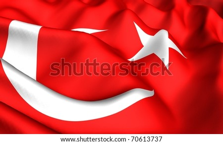Flag of Turkey. Close up.