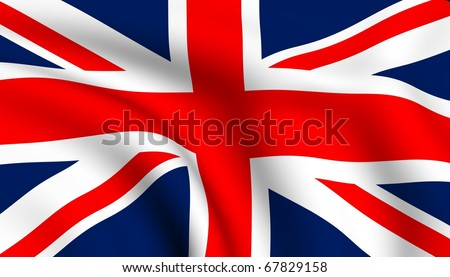 Flag of UK. - stock photo