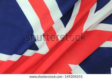 Flag of UK for background