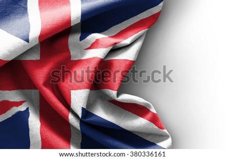 Flag of United Kingdom on white background - stock photo