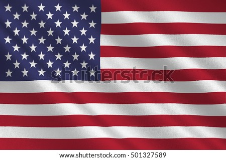 Flag of United States of America (USA). 3D illustration