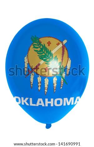 flag of us state of oklahoma balloon - stock photo