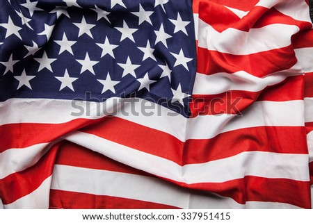 Flag of USA close up photo - stock photo