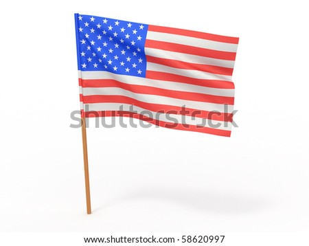 Flag of usa . 3d