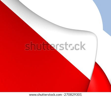 Flag of Utrecht City, Netherlands. Close Up.