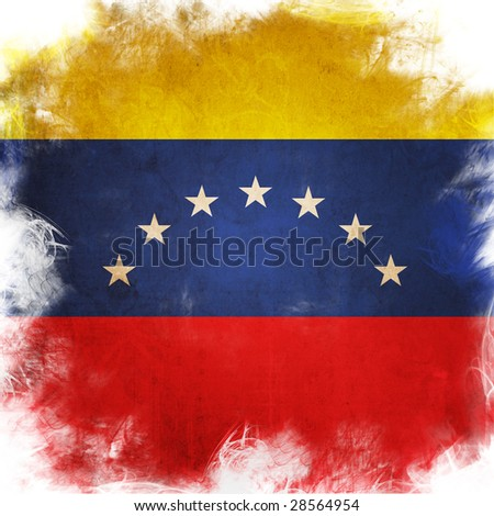 flag of venezuela - stock photo