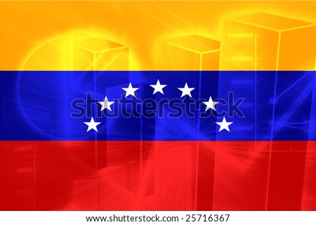 Flag of Venezuela, national country symbol illustration - stock photo