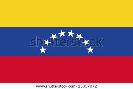flag of venezuela original - stock photo