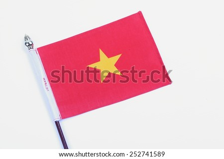 Flag of Vietnam - stock photo