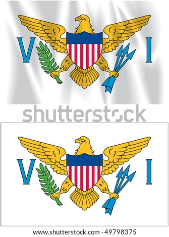 Flag of Virgin Islands - stock photo