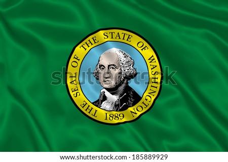 Flag of Washington state (USA)  - stock photo