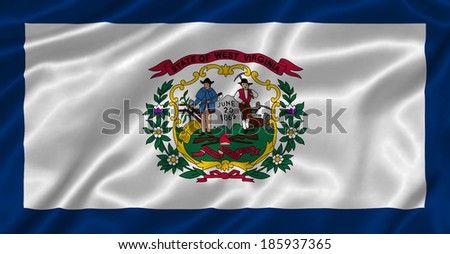 Flag of West Virginia state (USA) - stock photo