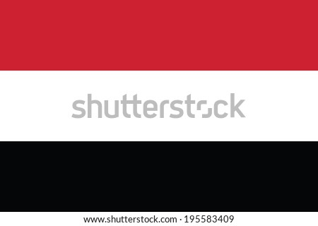 Flag of Yemen. Accurate dimensions, elements proportions and colors. - stock photo