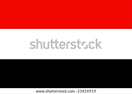 Flag of Yemen, national country symbol illustration - stock photo