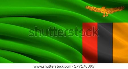 Flag of Zambia - stock photo