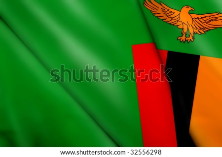 Flag of Zambia - stock photo