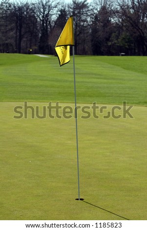 flag on a golf course